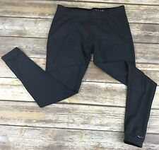 NIKE PRO Fit Dry Gray Fleece Lined Thermal Running M Leggings Pants A3
