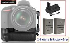 Professional Multi Power Battery Grip & 2-Pc EN-EL14 Battery For Nikon D5500