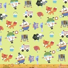 Mother Goose Tales Characters Fabric 2yds 100% Cotton Humpty Dumpty Windham