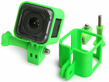 Ultra Light Frame + Tripod Mount f. GoPro HERO 4 Session Rahmen Stativ Green