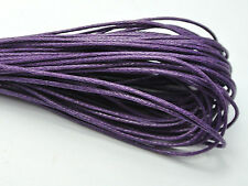 100 Meters Purple Waxed Cotton Beading Cord 1mm for Bracelet Necklace