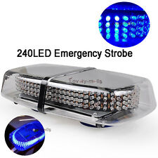 NEWEST 1Pc 240 LED Car Magnetic 10000K Blue Truck Strobe Flash Light Warning