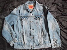 GENUINE original LEVI'S LEVIS denim JACKET COAT red tab AMERICANA CLASSIC L