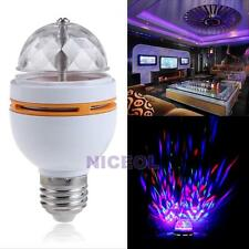 E27 Colorful Rotating Voice-activated RGB LED Party Disco Stage Light Bulb Lamp