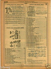 1921 PAPER AD Parts Repair Price List Solar Bicycle Lamp Searchlight