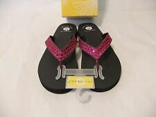YELLOW BOX Tatiana Purple Sequin Sparkle Thong Flip Flop Sandal Comfort Sze 9
