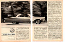 1966 CHRYSLER 300 - 440/365 HP ~ ORIGINAL 3-PAGE ROAD TEST / ARTICLE / AD