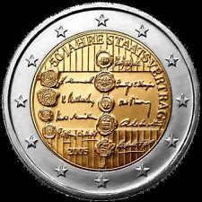 Austria 2 € 2005 Trattato dello stato  FDC