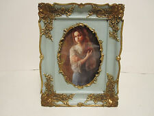 """Antique Looking Gold Victorian Style 4"""" X 6"""" Oval Picture Frame"""