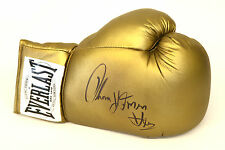 Tommy Hearns Signed Gold Everlast Autograph Boxing Glove