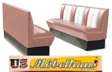 HW-180-Rose American Dinerbank Sitzbank Diner Bänke Möbel USA Style Gastronomie
