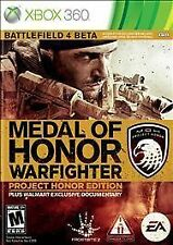 Medal of Honor: Warfighter -- Project Honor Edition (Microsoft Xbox 360, 2012)