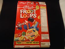 Mario Paint Super Nintendo SNES Kellogg's Froot Loops Kellogg Cereal Promo Box