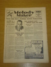 MELODY MAKER 1933 NOV 11 REGINALD FORESYTHE DICK DICKMAN BIG BAND SWING