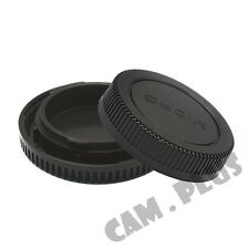 Light-weight Lens Rear Cap and Body Cap for Micro 4/3 Lens