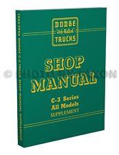 1955 1956 Dodge Truck Repair Shop Manual Supplement C3 Pickup Panel Power Wagon