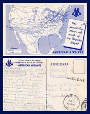 AMERICAN AIRLINES MAP METER STAMP 26 JULY 1949 TO CLARKSDALE MISS MISSENT TO WVA