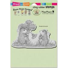 New Stampendous RUBBER STAMP cling House Mouse DANDELION BOUQUET free us ship