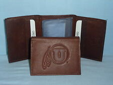 UTAH UTES    Leather TriFold Wallet    NEW    dark brown 3v nd