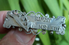 Victorian Sterling Silver Sweetheart / FORGET ME NOT / Name Brooch  h/m 1899