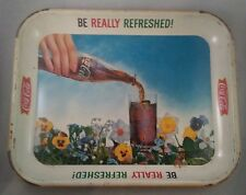 """Vintage 1961 Coca-Cola Tray """"Be Really Refreshed"""" Advertising Advertisement"""