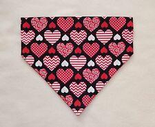 VALENTINE'S LARGE RED & WHITE HEARTS  DOG SCARF/BANDANA--LARGE