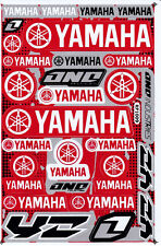 YAMAHA Sticker Vinyl Decal Red Silver Motorcycle Bike Racing New Free Shipping