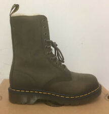DR. MARTENS 1490 FL GRENADE GREEN WILDHORSE LEATHER  BOOTS SIZE UK 4
