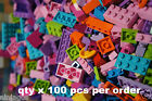 100+ Bulk LEGO Lot Friends Girl Colors Pink Lime Red Azure Purple Brick Plates