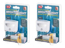 Pack of 2 - Mighty Light AS SEEN ON TV ~ Indoor/Outdoor Motion Sensor LED Light