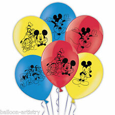"6 disney's mickey mouse enfants's party 11"" 28cm 4-verso imprimé latex ballons"