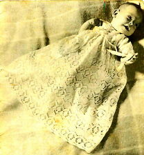 Vintage Visage knitting pattern-how to make pretty lace baby christening gown