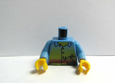 Lego 1 Body Torso For Minifigure  Blue Shirt Palm Trees  Holiday