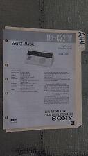 Sony icf-c221w service manual original repair book digital clock radio