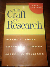 The Craft of Research: Third Edition