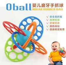 Oball bright-color molar rubber ball baby toy multi-touch grasping ball gift 1pc