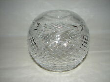 Vintage CUT GLASS Rose Bowl GLANDORE Pattern by WATERFORD CRYSTAL Signed 5 3/4""