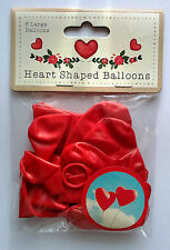 6 RED HEART SHAPE BALLOONS Proposal LATEX Birthday Party WEDDING Decor ROMANTIC