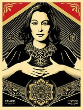 Peace and Justice Woman - Shepard Fairey Obey Signed Art Print Poster Sold Out