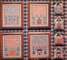 Needle and I SAMPLERS ~ Seasonal Accents ~ OOP Leaflet/4 Cross Stitch Charts