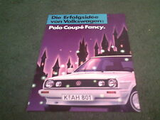 November 1987 VW POLO COUPE FANCY Special Edition - GERMAN FOLDER BROCHURE