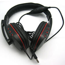 USB Gaming HIFI Stereo Mic Headset Headphones with Noise Canceling for PC PS3