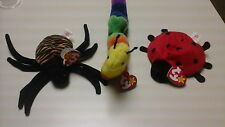 BEANIE BABY COLLECTION LOT OF THREE INSECTS/TOYS/SPINNER/INCH/LUCKY