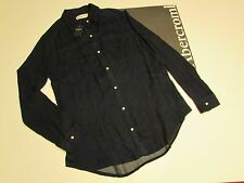 NWT AUTHENTIC Abercrombie & Fitch Kid Girl's Navy Long Sleeve Shirt Blouse SZ16