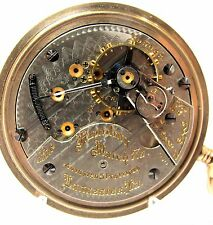 STUNNING - RUNNING - 1908 18S HAMILTON 940 21J GF POCKET WATCH