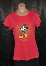 DISNEY PARKS WOMENS RED MICKEY MOUSE DISNEYLAND  SHIRT TOP SZ L SHIRT BLOUSE