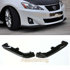 Carbon Fiber Front Splitters Side Bumper Lip Spoiler Kits for Lexus IS250 11-13