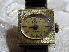 VINTAGE Ladies Gold Plated GERMAN GUB  GLASHUTTE 17 R Hand Wind Mechanical Watch