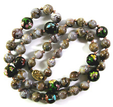 EMAUX & Agathe chaîne, silberschloß plaqué or CHINESE CLOISONNE & Agate Necklace