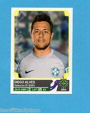 COPA AMERICA 2015 CHILE-Figurina n.208- DIEGO ALVES -BRASILE-NEW-BLACK BACK
